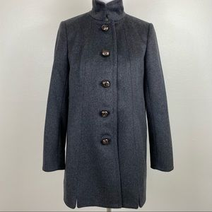 J. Crew Wool Griffin Coat in Charcoal Gray